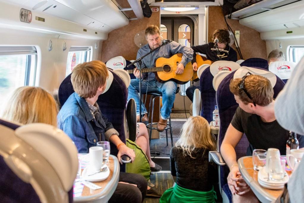 Jimi on Virgin Trains